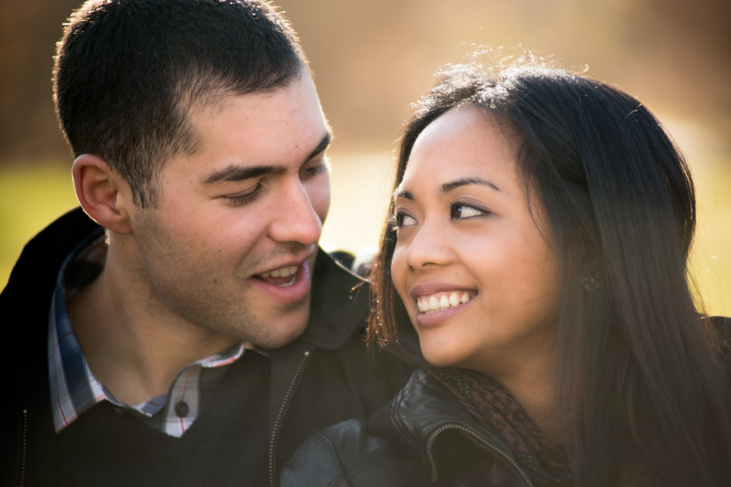 engagement shoot at kissena park, queens, ny