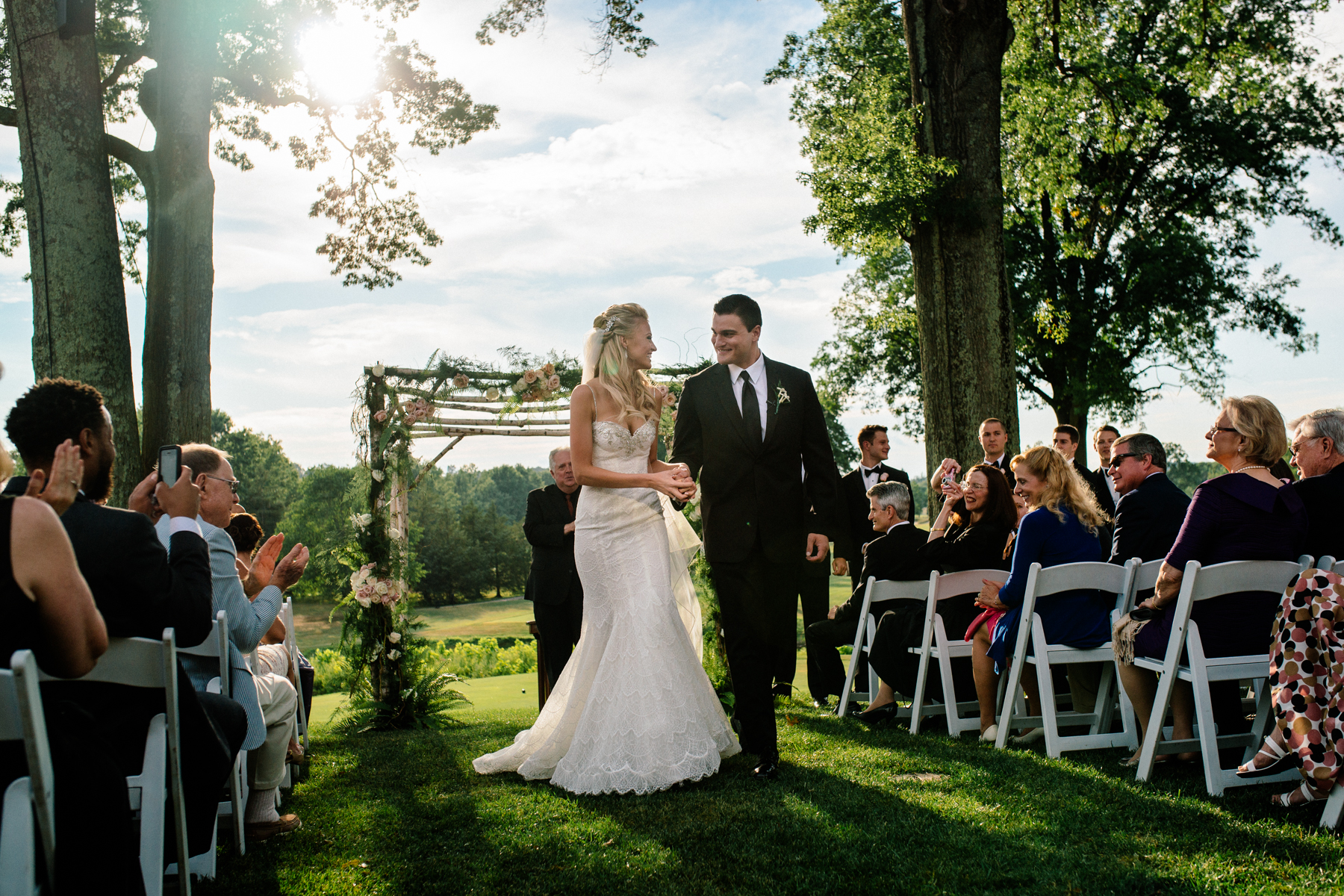 Wedding ceremony Fiddler's Elbow Country Club - Stephen Tang Photo