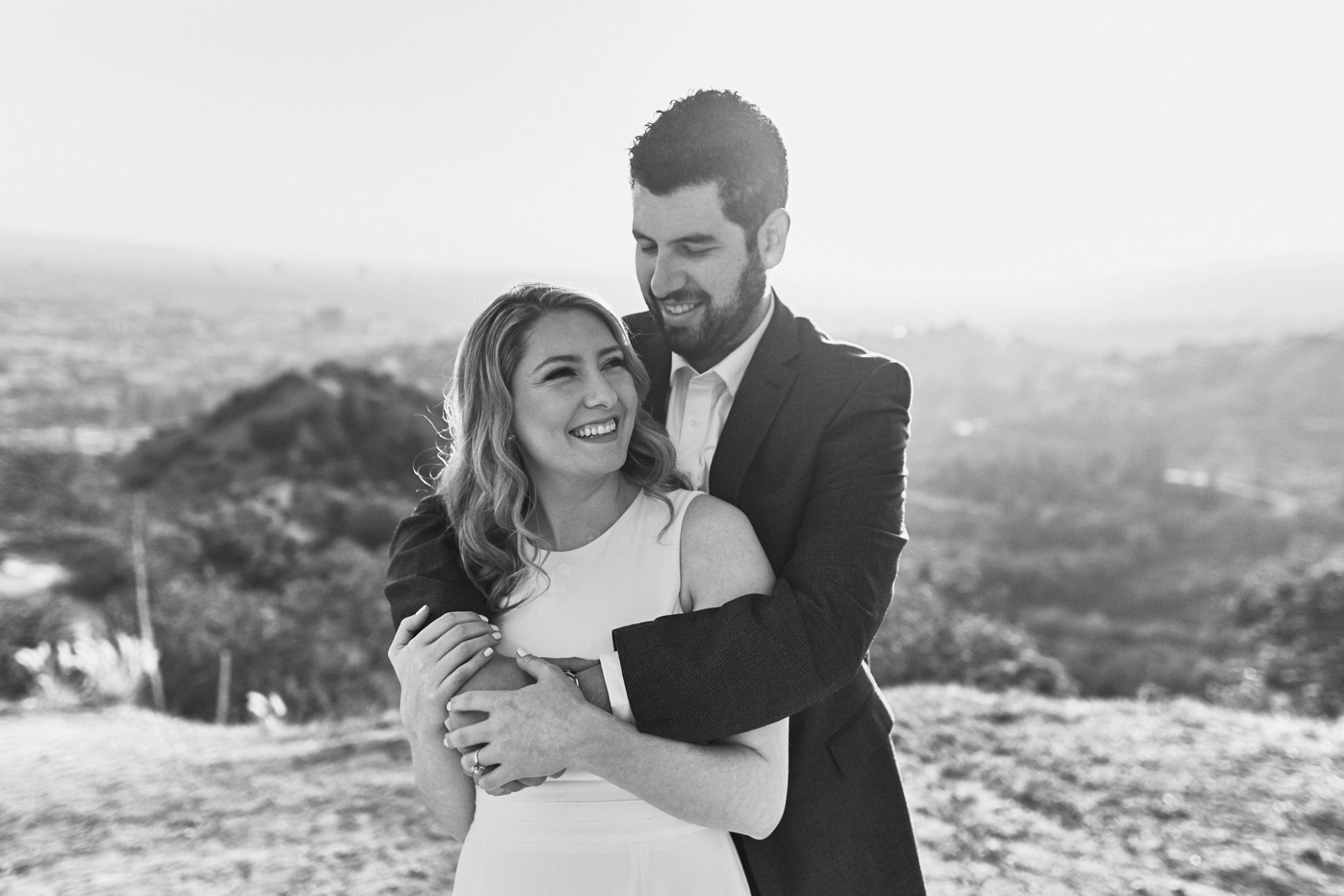 Sunset Portrait - Griffith Observatory engagement session - Stephen Tang Photo