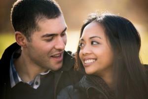 engagement shoot at kissena park, queens, ny