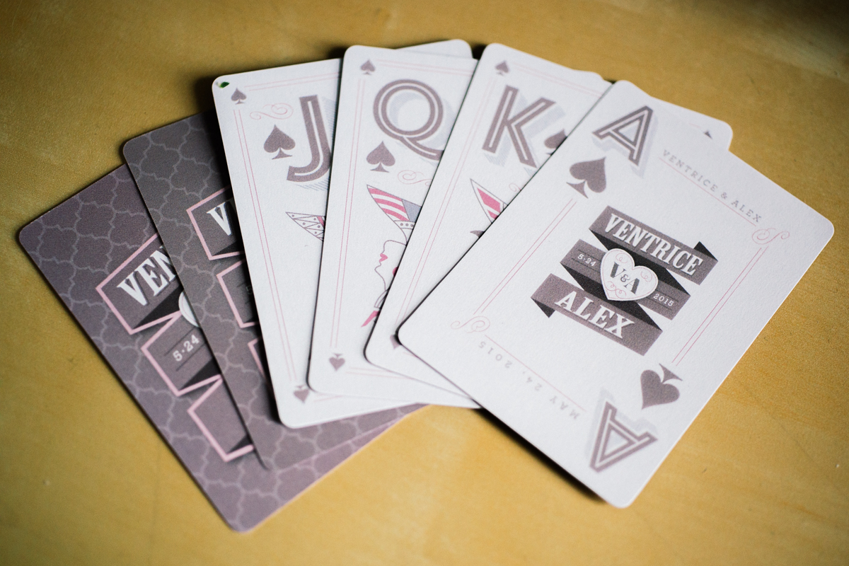 Custom deck of cards wedding favor