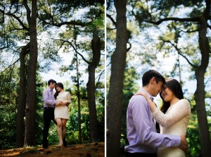 Brooklyn Botanic Garden Engagement Photo