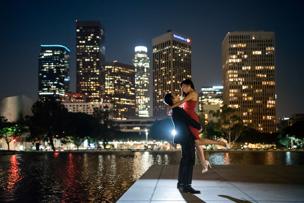 Downtown LA Engagement portrait