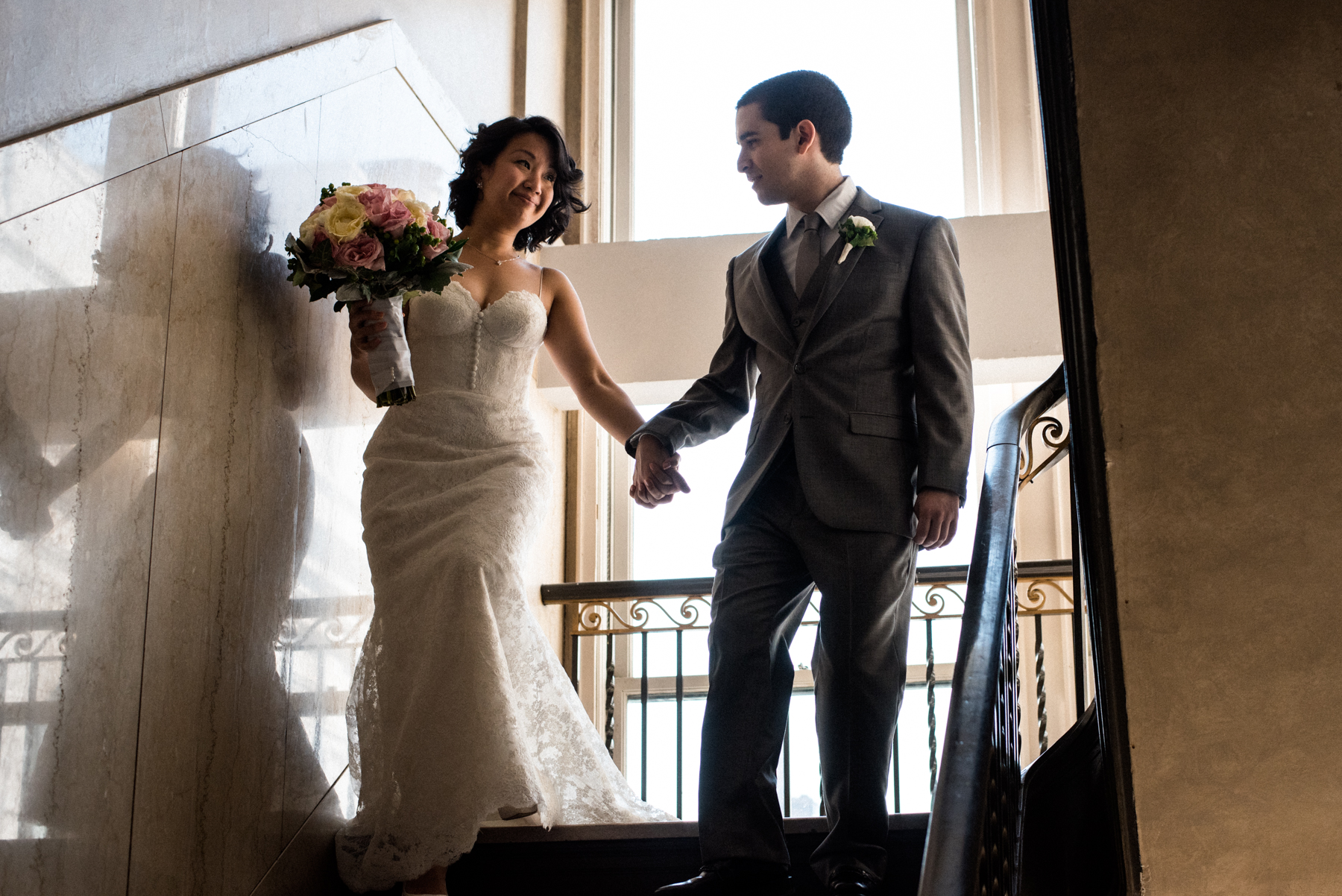 wedding portrait down town club philadelphia