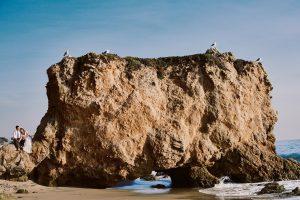 el matador beach engagement portrait
