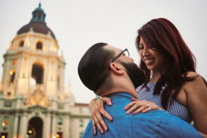 Engagement Portrait Pasadena City Hall