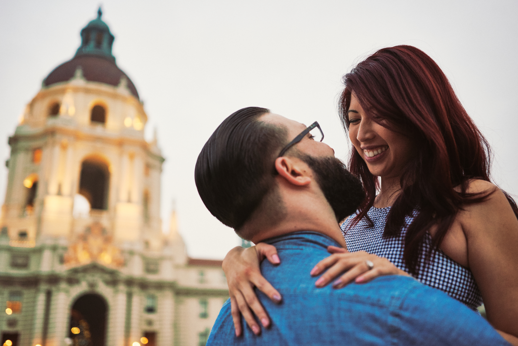 Engagement Portrait Pasadena City Hall