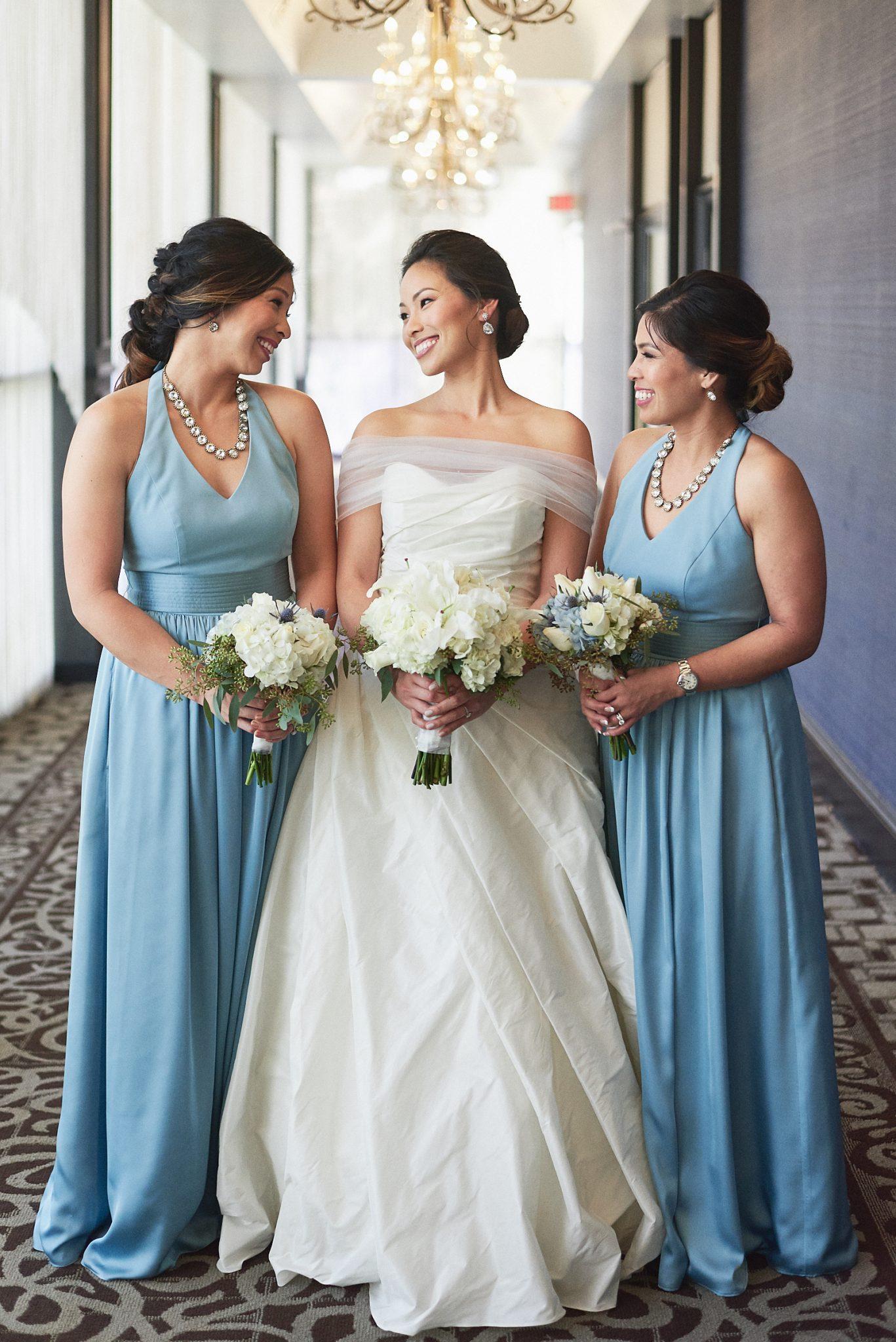 Bride and bridesmaids portrait Hills Hotel Laguna Hills