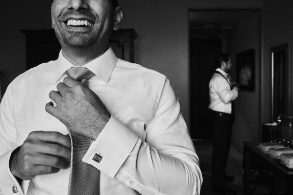 Groom and groomsman Ponte Winery