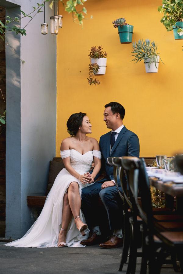 Wedding moment Madera Kitchen Hollywood