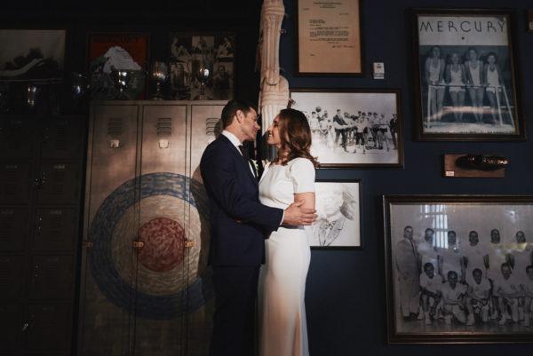 Lounge wedding portrait Los Angeles Athletic Club Wedding