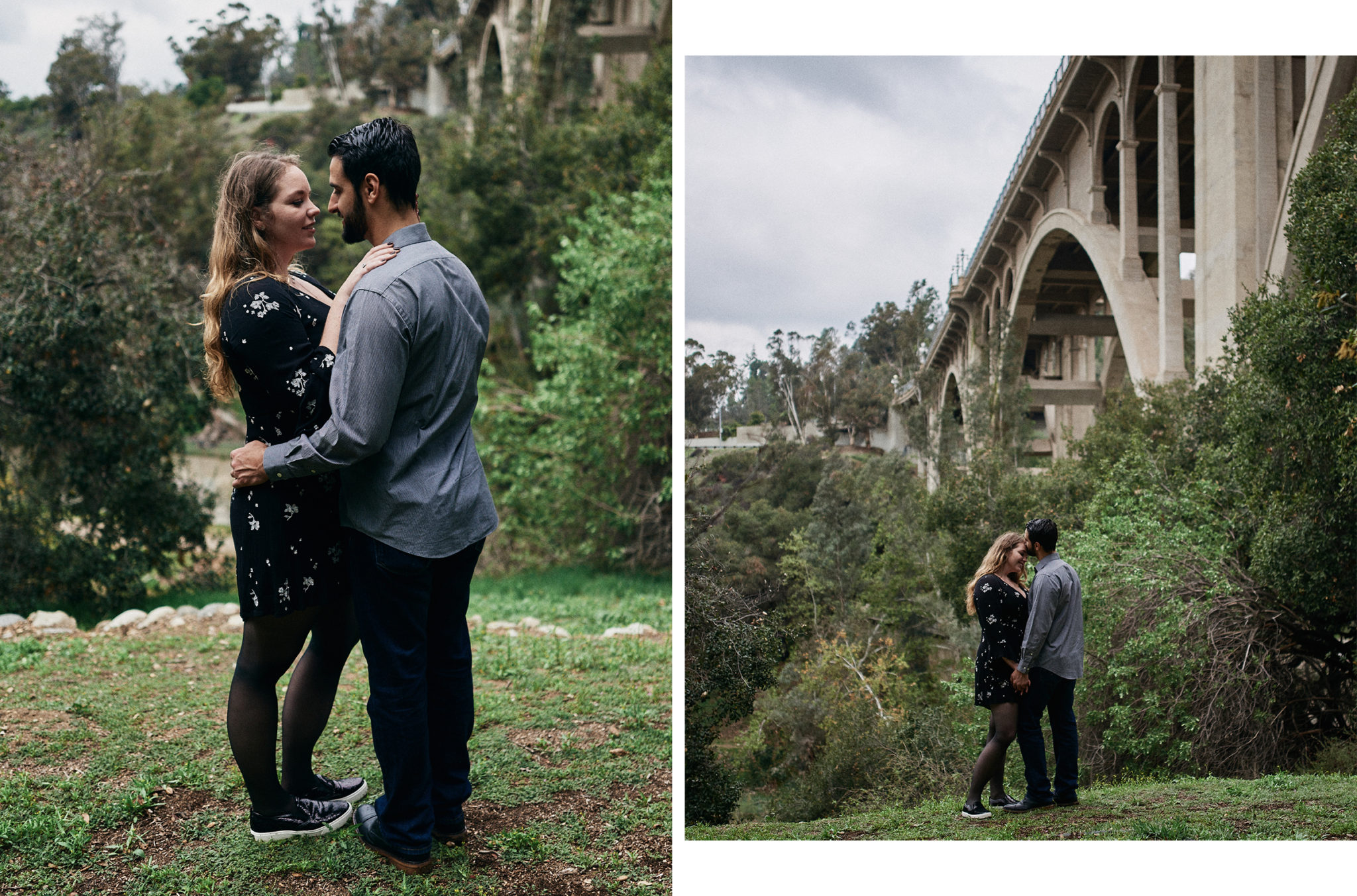 Engagement session at colorado street bridge