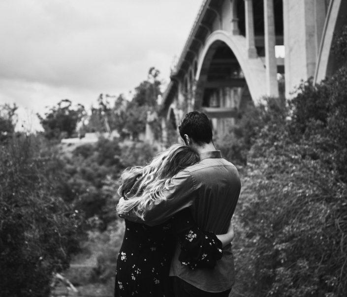 Engagement session at colorado street bridge