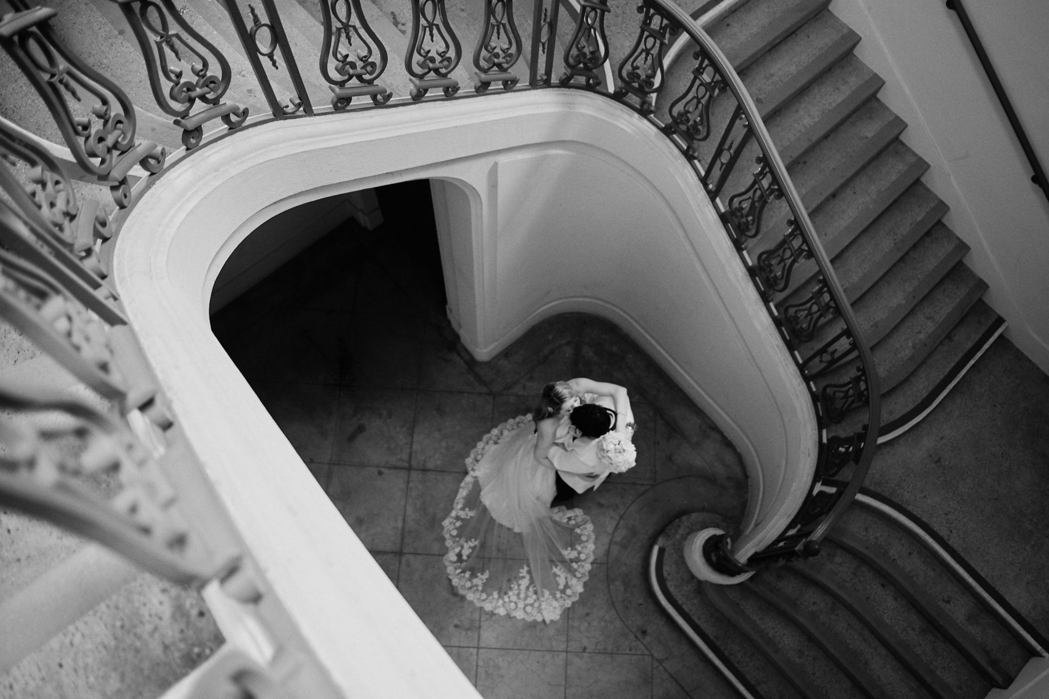 Pasadena City Hall Wedding Portrait - Stephen Tang Photo