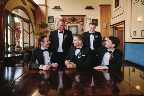Groom and groomsmen Perch LA