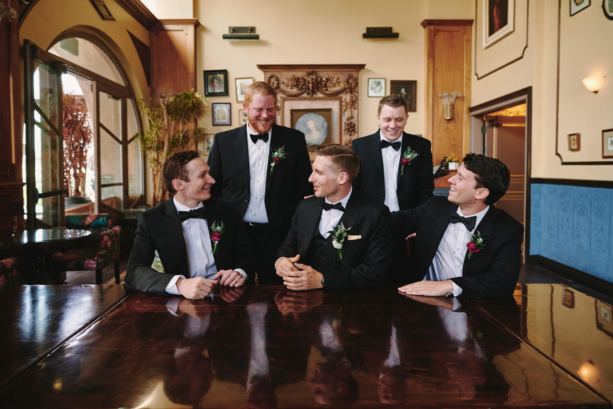 Groom and groomsmen Perch LA