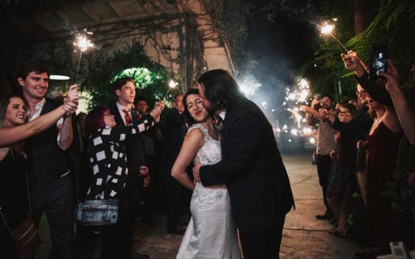 Hartley Botanica wedding sparkler exit
