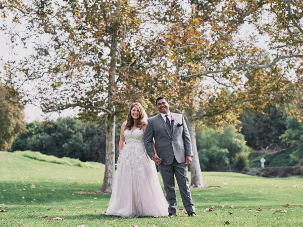 Mountain Meadows Golf Course wedding portrait