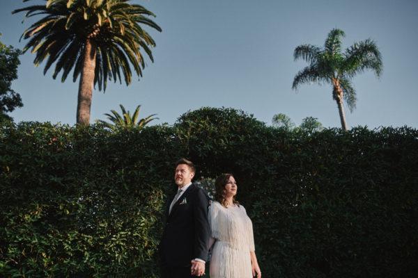 Riviera Mansion Santa Barbara wedding portrait