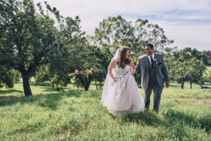 Mountain Meadows Golf Course wedding portrait