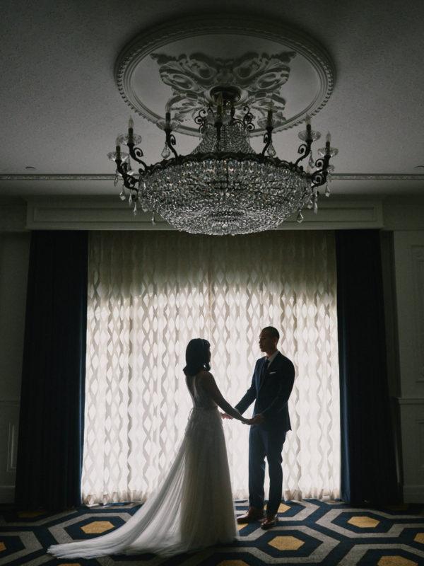 Los Angeles Athletic Club wedding first look ballroom