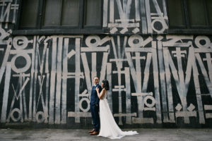 Los Angeles Athletic Club wedding portrait