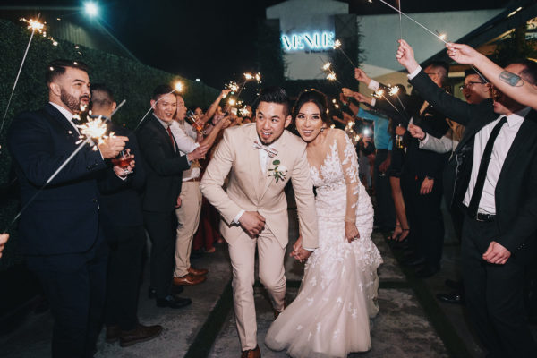 Venue by Three Petals sparklers wedding exit
