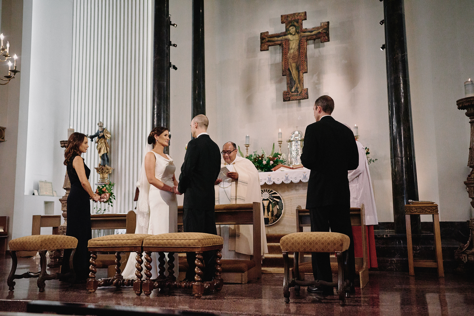 Saint Victor Catholic Church wedding