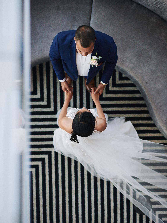 Bride and groom Hotel Indigo