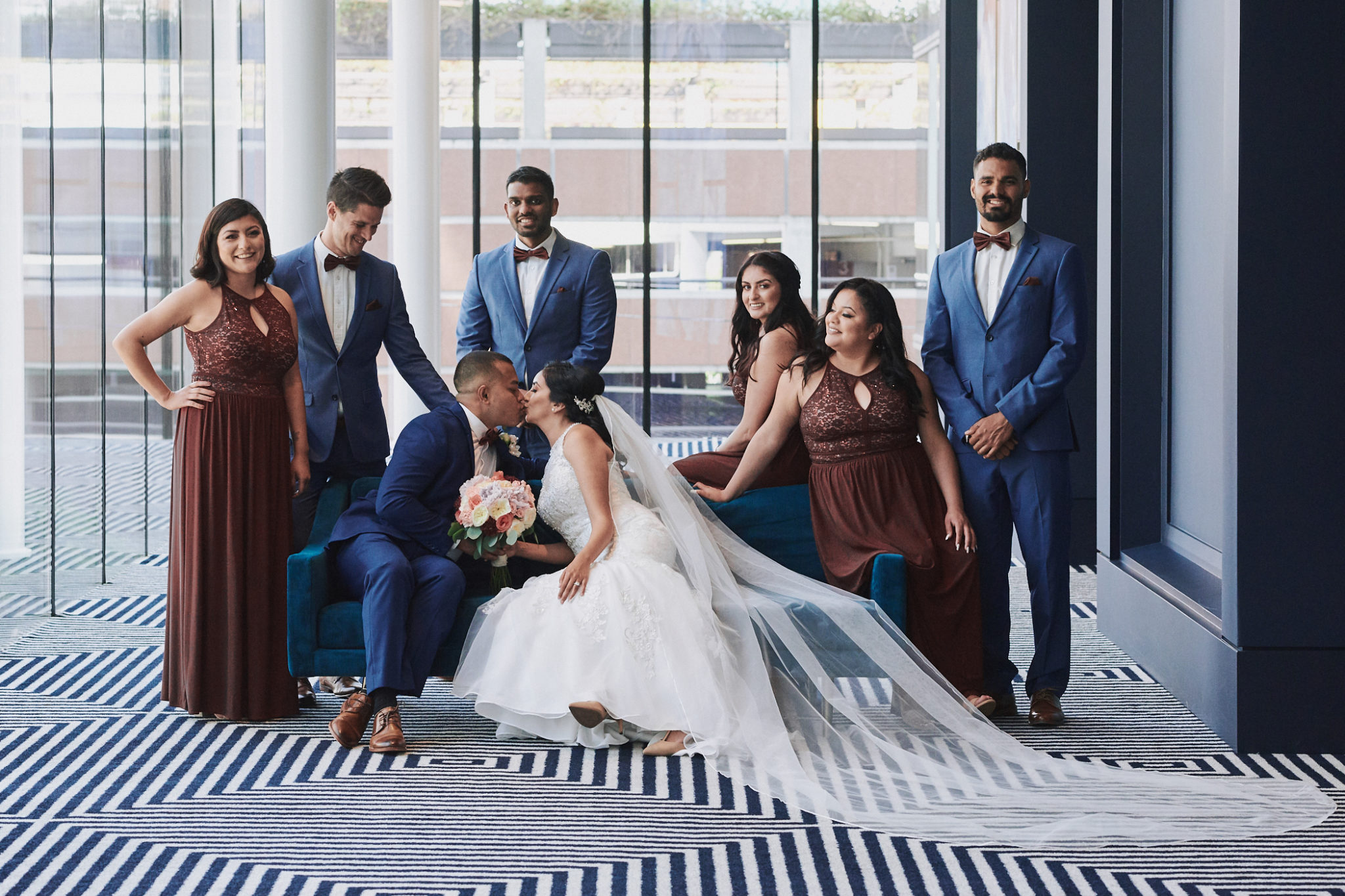 Wedding party portrait Hotel Indigo