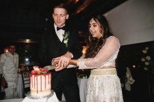 Wedding cake cutting Perch LA
