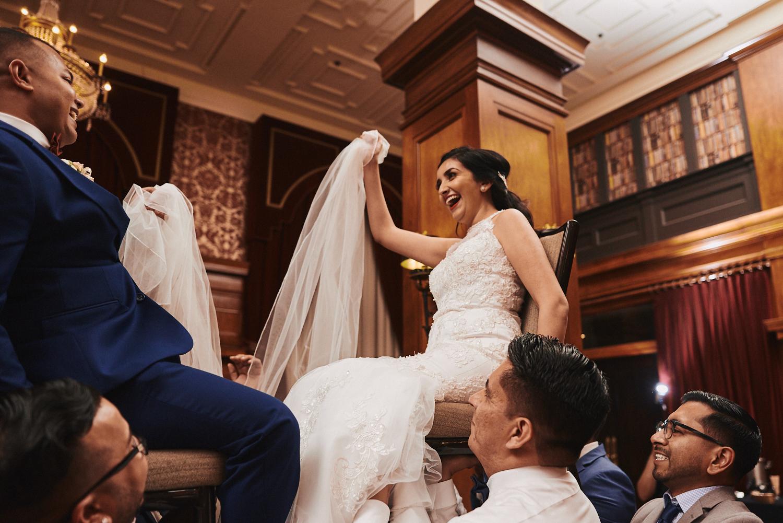 Wedding Mexican chair dance Los Angeles Athletic Club