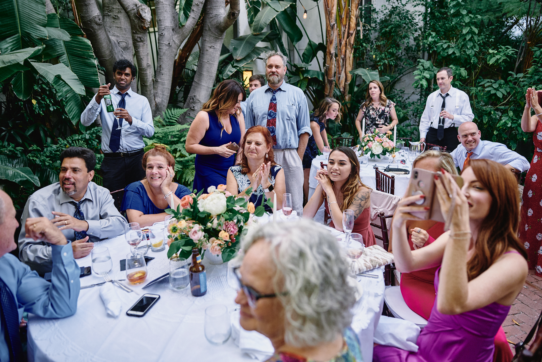 Sunset Marquis wedding guests West Hollywood
