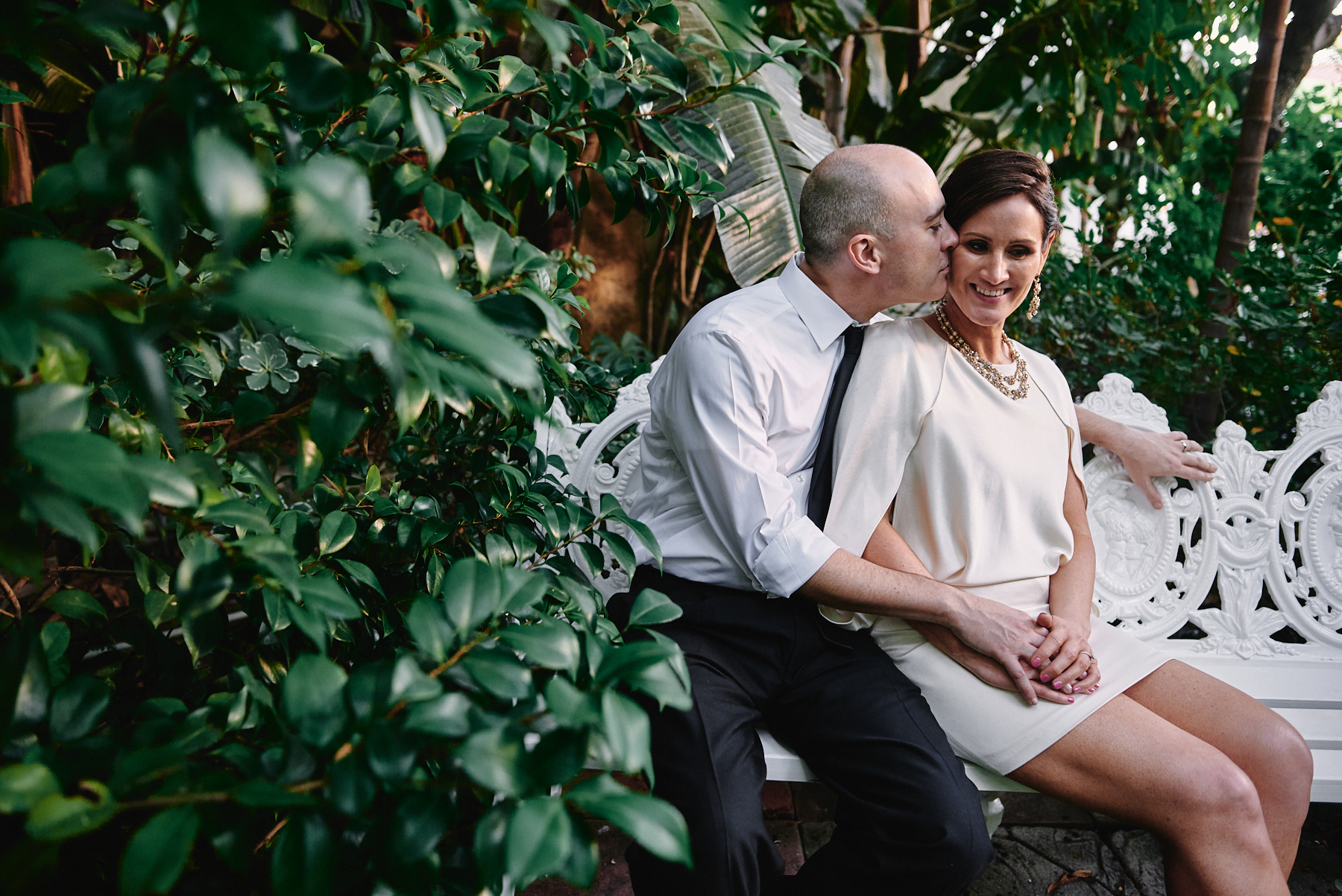 Sunset Marquis wedding portrait West Hollywood