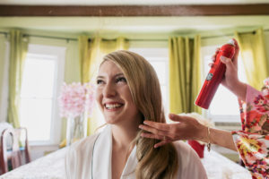 Pasadena Wedding bride hairspray