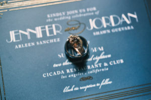 Cicada Club wedding invitation