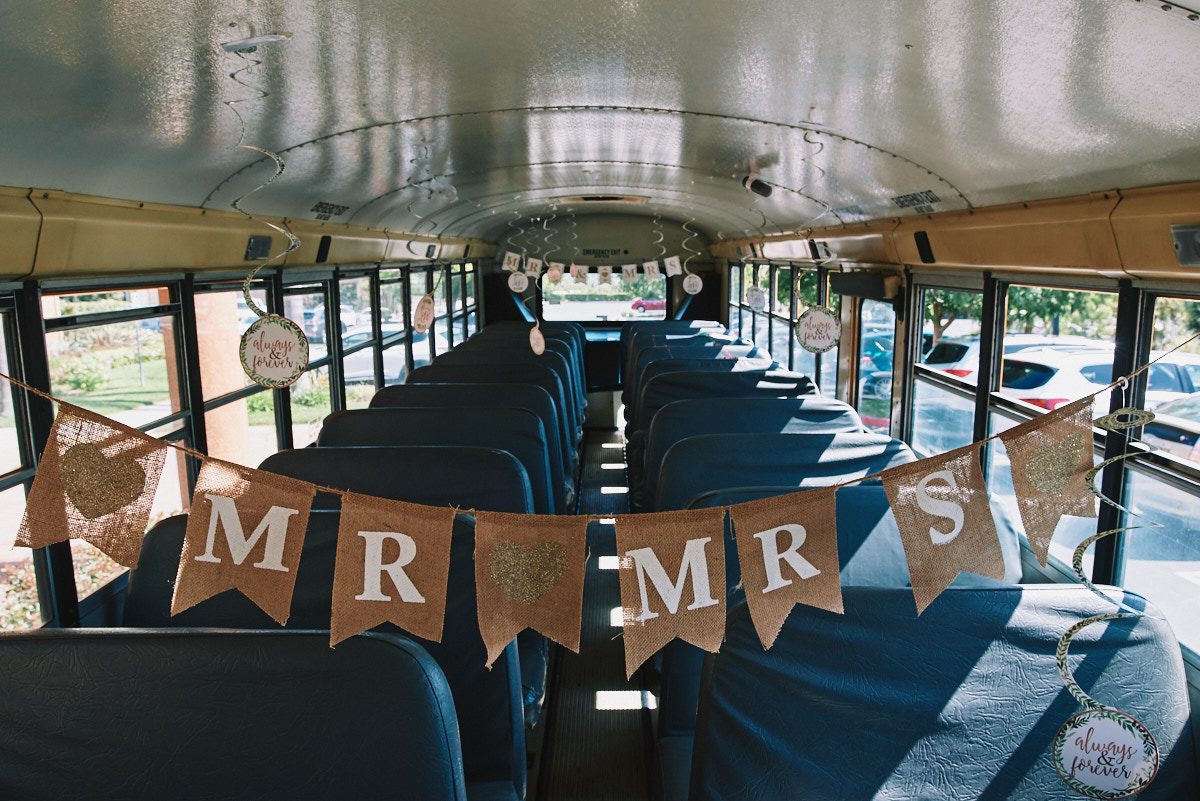 Hartley Botanica wedding school bus