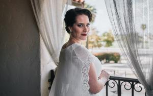 Secret Garden Event Center wedding bride portrait