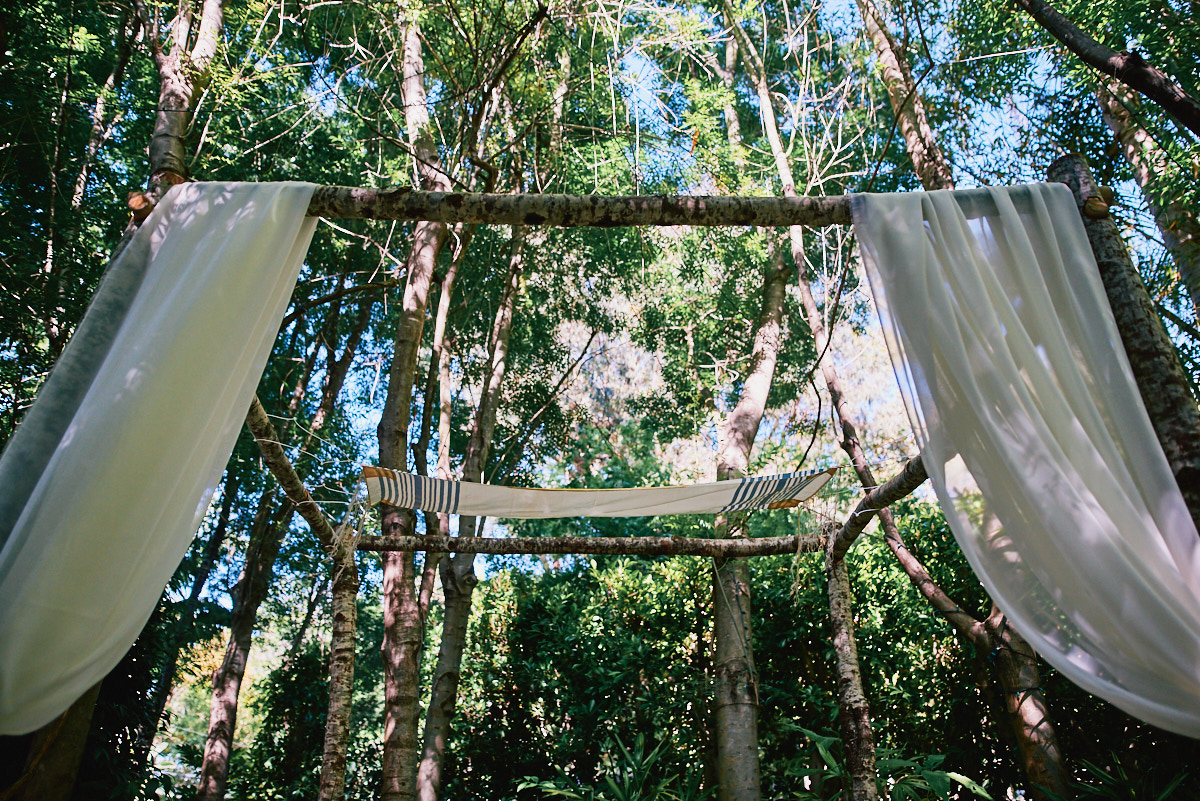 Hartley Botanica Jewish wedding outdoors chuppah