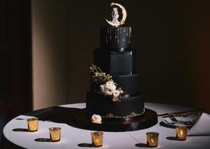 Secret Garden Event Center black wedding cake
