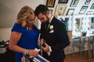 Hartley Botanica wedding groom and mother