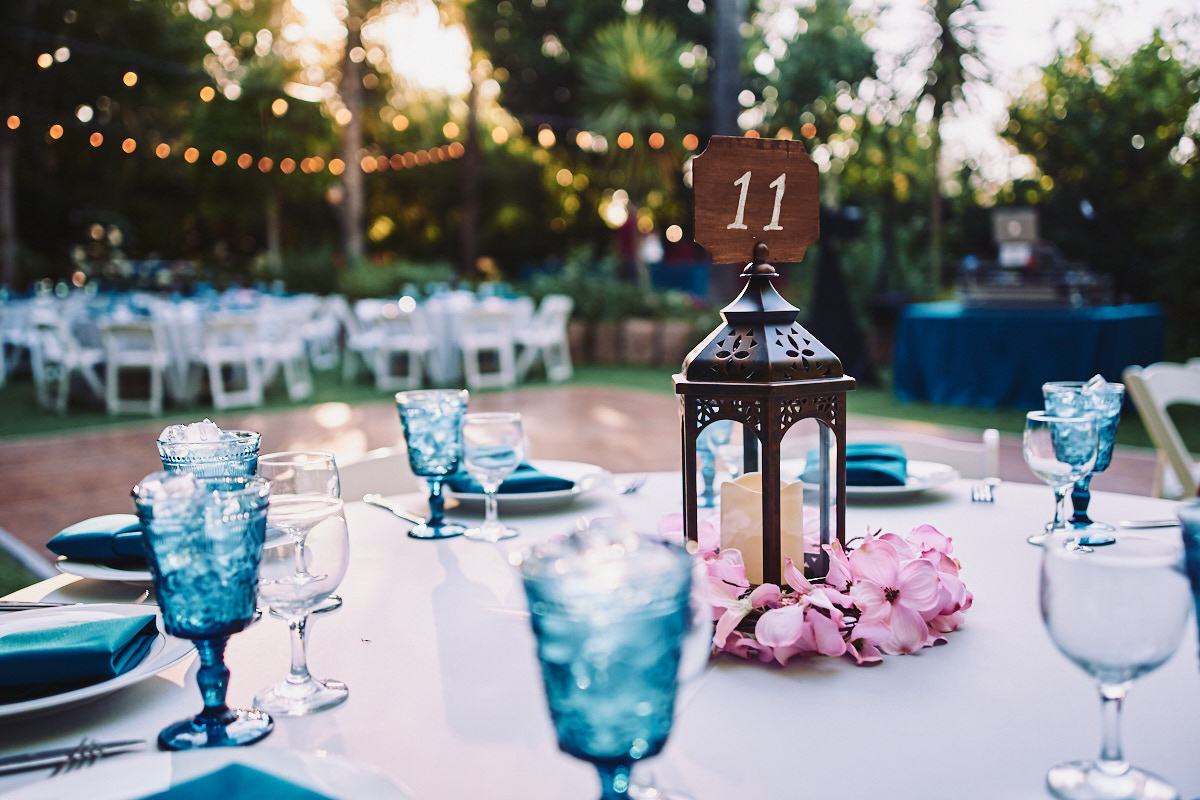 Hartley Botanica wedding reception outdoors centerpiece