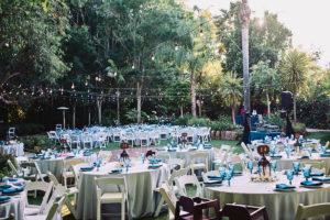 Hartley Botanica wedding reception outdoors