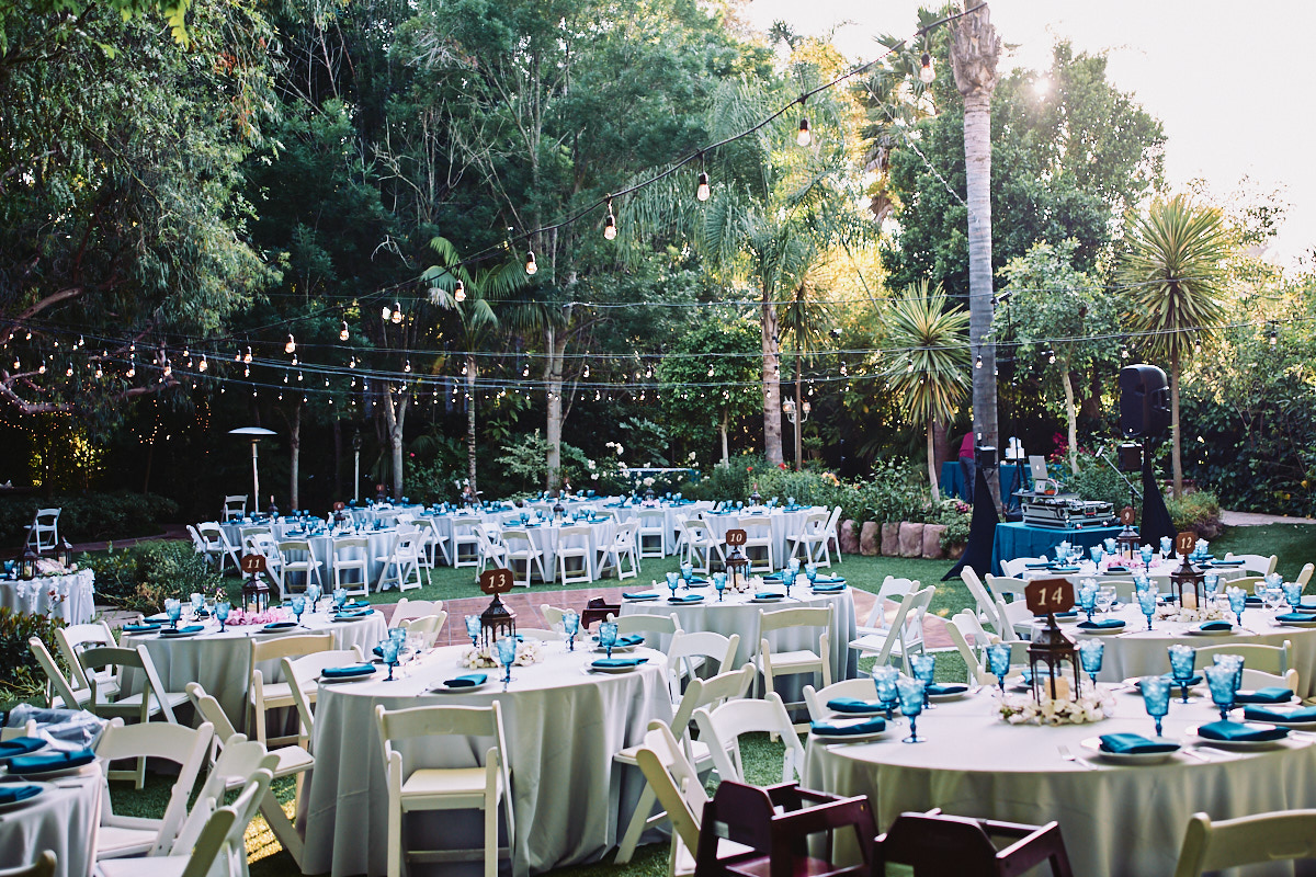 Hartley Botanica wedding reception outdoors