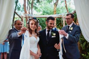 Hartley Botanica Jewish wedding ceremony tallit