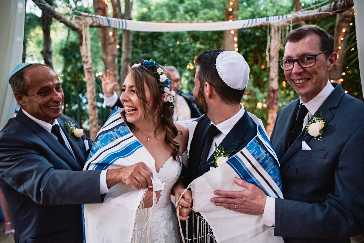 Hartley Botanica Jewish wedding ceremony tallit