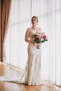 Salvation Army Crestmont College wedding bride portrait
