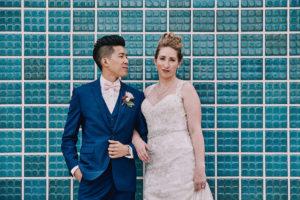 Salvation Army Crestmont College wedding portrait