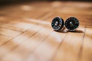 Camera cufflinks for wedding