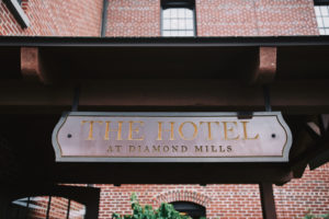 Diamond Mills Hotel sign